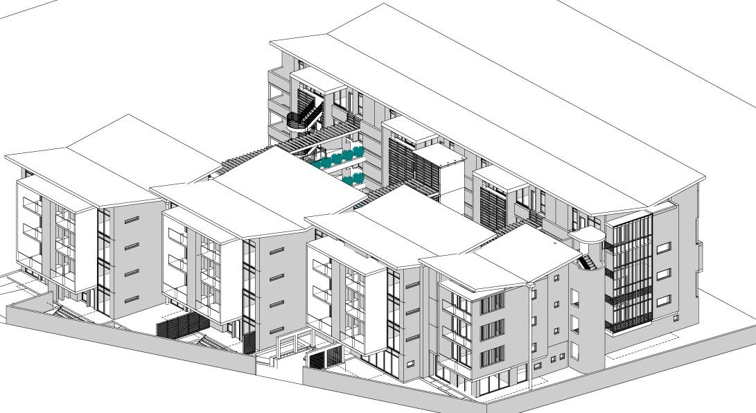 14109-Melrose Estate erf36 Option 02 09 May 20 SITE PLAN - Drawing Sheet - 0500 - 3D VIEW
