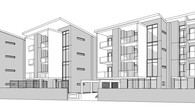 14109-Melrose Estate erf36 Option 02 09 May 20 SITE PLAN - Drawing Sheet - 0502 - 3D View